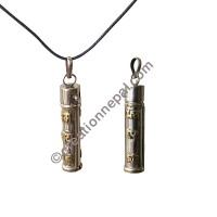 2-side Mantra tube pendant