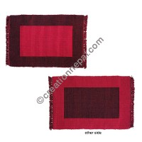 Dining table placemat Red-black