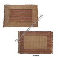 Dining table placemat colorful brown