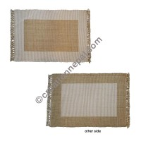 Dining table placemat beige white