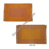 Dining table placemat gold brown