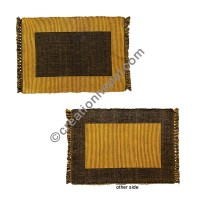 Dining table placemat gold black
