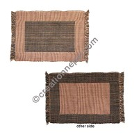 Dining table placemat brown mixed