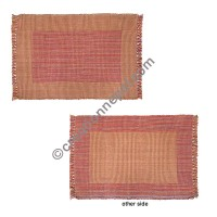 Dining table placemat beige red-colorful