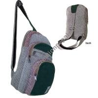 Single strap 3-step hemp side bag