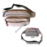 Natural white hemp box belt bag