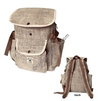 Flap top hemp backpack