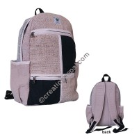 2-color packets hemp-cotton backpack