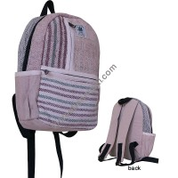 Stripes pockets hemp-cotton backpack
