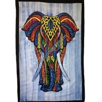 Large elephant brushed tapestry