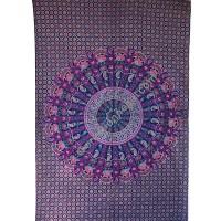 Circle mandala purple printed tapestry