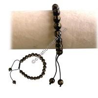 Glass beads mantra wristband