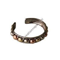 Metal beads attached bangle