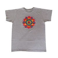 Rainbow embroidery cotton T-shirt