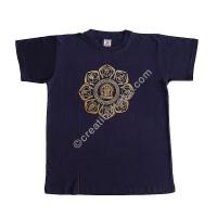 Auspicious signs print stretchy cotton T-shirt