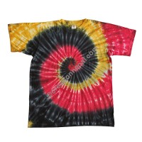 Spiral tiedye stretchy cotton T-shirt