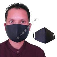 Leather purple color face mask