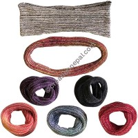 Cotton knitting stretchy hair tie