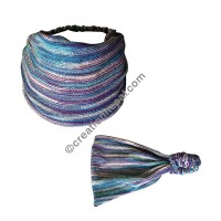 Cotton knitting Blue-purple mixed headband