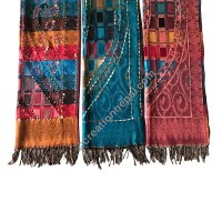 Viscose hand work shawl