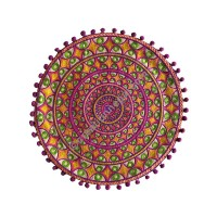 Circles embroidery cushion cover