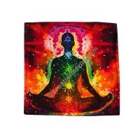 Light of meditation square cushion cover