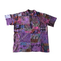 Printed patch work Brown color shirt