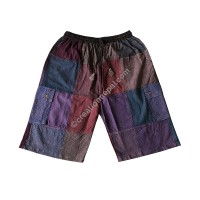 Brown toned plain patch work shorts