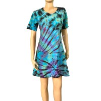 Tie dye knee-length dress