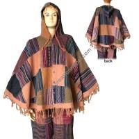 Gheri patch work Brown poncho