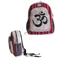 Om Mantra hemp-cotton backpack