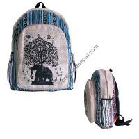 Elephant-tree hemp-cotton backpack