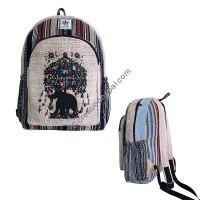 Elephant-tree hemp-cotton backpack2