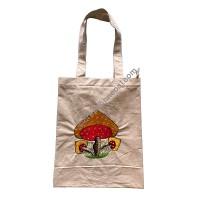 Big mushroom embroidered bag