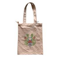 Embroidered flower arts bag