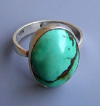 Turquoise stone finger ring 4