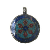 Stone setting metal pendant7