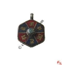 Stone setting metal pendant13