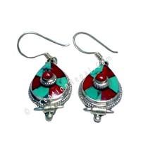 Tibetan tear drop Earring