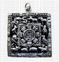 Square small white metal calendar