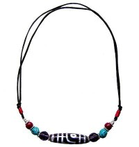 Dzi stone necklace