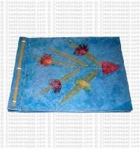 Bamboo leaf-flower inlay album