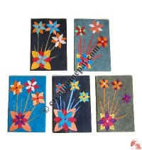Paper flower cards (set of 5)