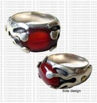 Ameba design finger ring