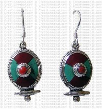 Tibetan tear drop Earring 2
