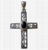 Cross silver pendant