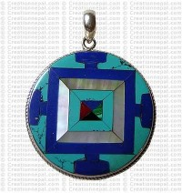Tibetan mandala pendant