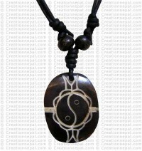 Double fish bone pendant