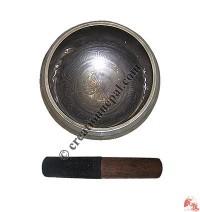 Medium size tibetan calendar carved Bowl