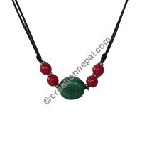 Turq-coral necklace